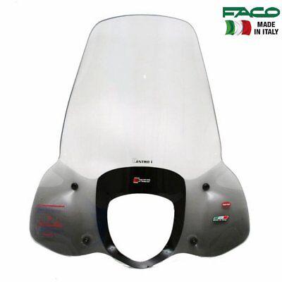 Bereidwillig Faco 22711 Parabrezza Completo Con Aste Malaguti 125 Centro Ie 2008-2011 Comfortabel En Gemakkelijk Te Dragen