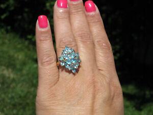 10K-Gold-6-60-Ct-Apatite-amp-Diamond-Ring-3-8-Grams-Size-6