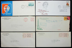 US-Postage-Set-of-6-Stamps-Covers-Letter-Envelope-Adv-FDC-USA-Letter-H-7647
