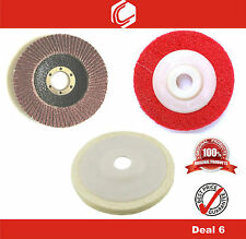 Deal 6 - Flap, Felt & Non Woven Wheels Suitable for all 4inch Angle Grinder
