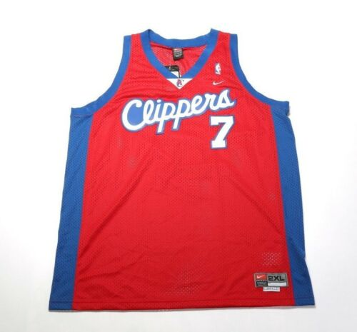 LOS ANGELES CLIPPERS RED VINTAGE 2004 NIKE LAMAR ODOM JERSEY NBSM0501507R