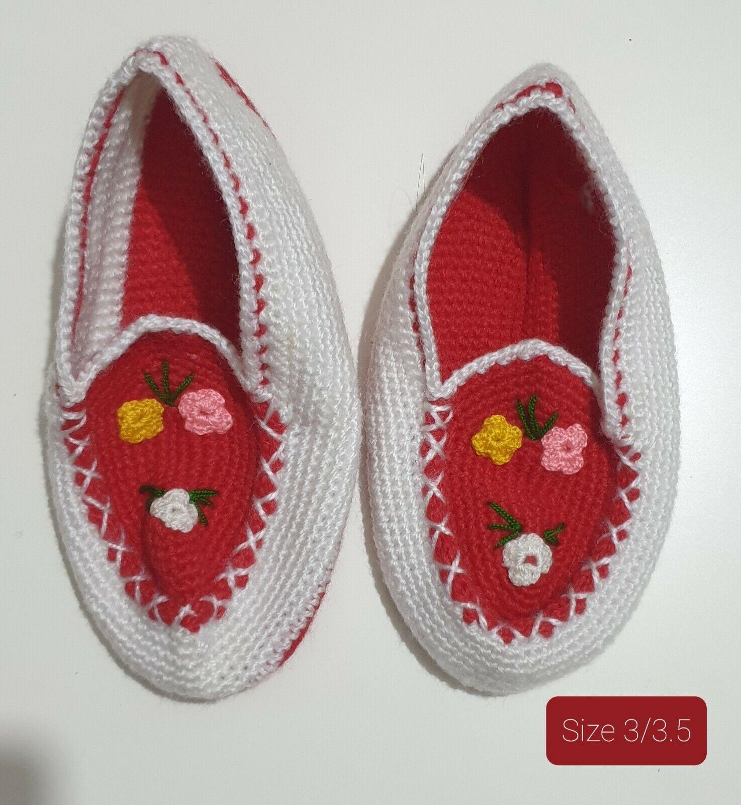 New Handmade Traditional Turkish Wool Warm socks Patik Çetik Slippers