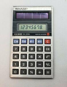 Vintage Sharp Elsi Mate EL-326A Solar Powered Pocket Calculator
