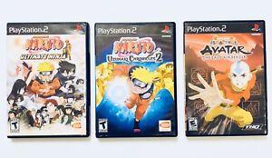c2b5025cc97 Naruto: Uzumaki Chronicles 2, Ultimate Ninja & Avatar TLA PS2 Bundle ...