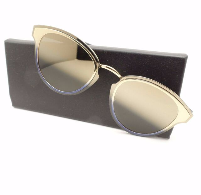 8e0a3c0c74 AUTHENTIC Christian Dior Nightfall LKSX5 Gold Blue Mirror Sunglasses lks x5