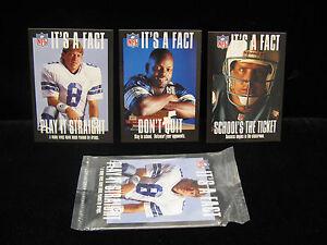 1994-Troy-Aikman-Emmitt-Smith-Dan-Marino-034-Its-a-Fact-034-3ct-Set-Sealed-1-2-3