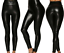 USA-Women-Faux-Leather-PU-Shinny-High-Waist-Stretch-Leggings-Pants-Wet-Look-S thumbnail 2