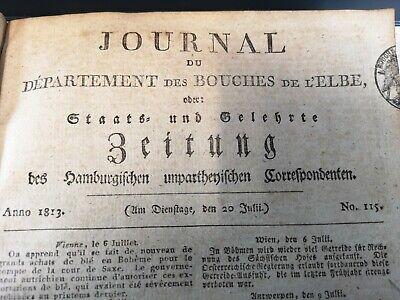 1813 115 / Festung Modlin Gefechte / Barmbek Feuer / Mekka Medina Erobert SorgfäLtige FäRbeprozesse