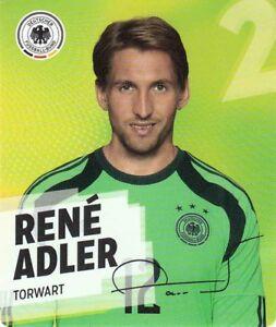 2 René Adler Rewe WM World Cup 2014 tarjeta individuales