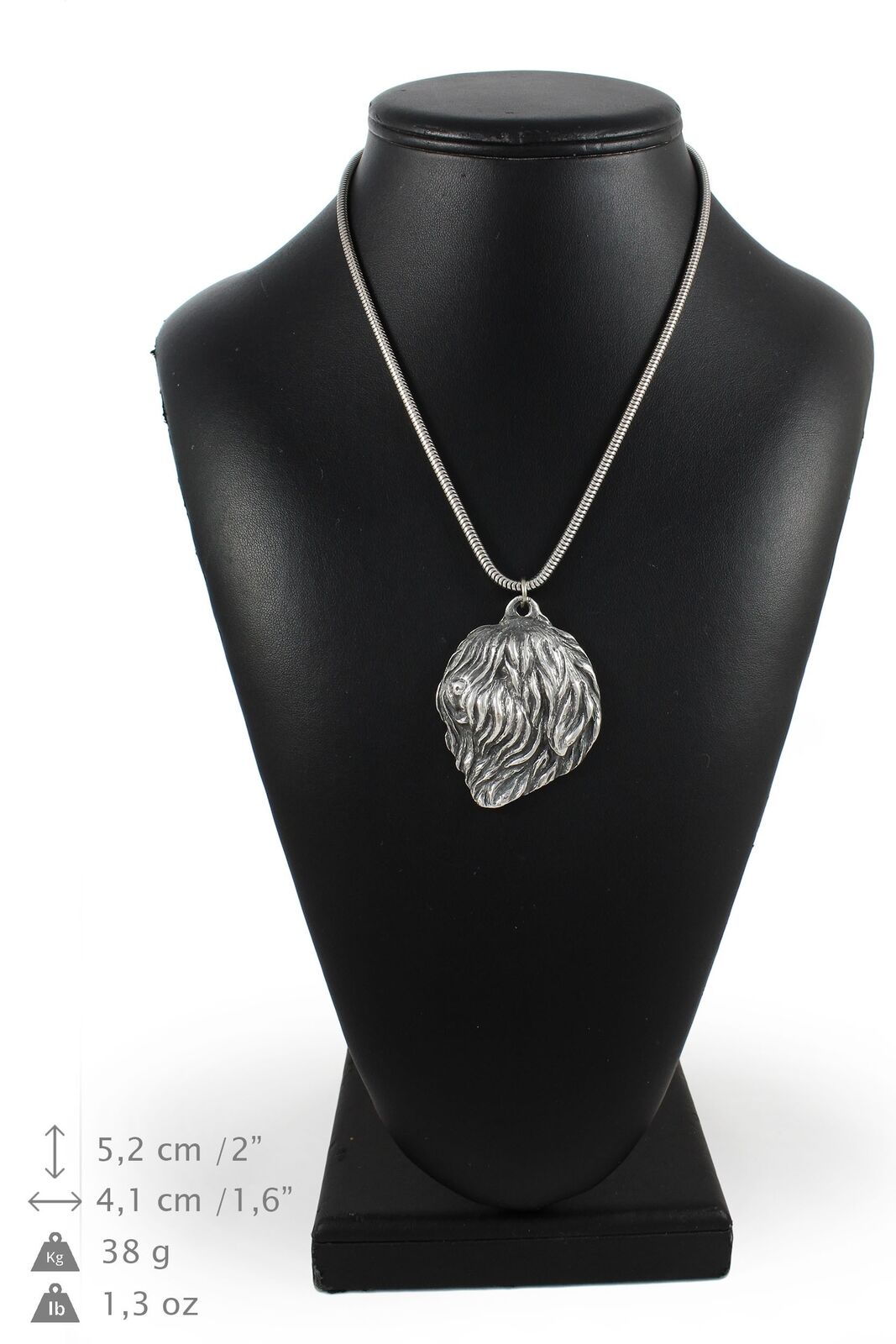 Lowland Sheepdog - Silber plated necklace with Silber cord, high quality, Art Do
