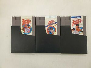 Bases Loaded 1 2 3 Nintendo NES Games Original Cartridge Cart Lot I II III Sleev