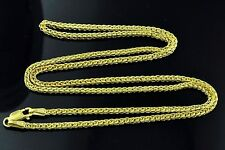 2.50 grams 14k solid yellow gold foxtail wheat chain necklace 18  inches #3826