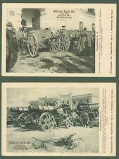 AUSTRIA. Due cartoline militari. Non viaggiate, anno 1914. Ottima conservazione