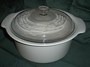 Image Is Loading Corning Ware White 5l Round Cerole Dish W