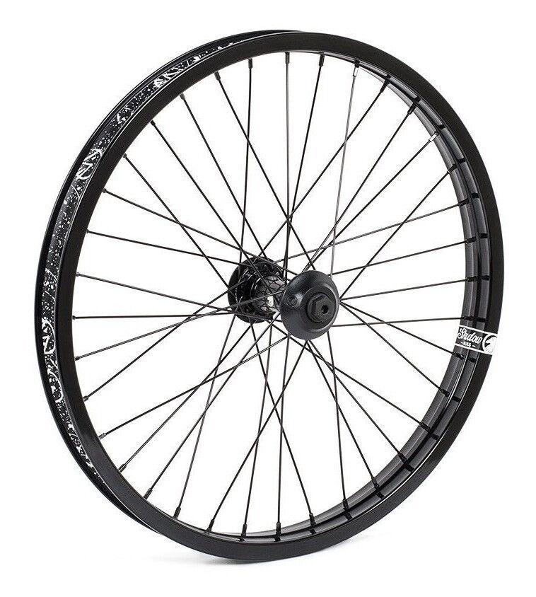 Shadow Conspiracy símbolo rueda delantera incluye 2 guardias Bicicleta BMX Negro Nuevo Hub