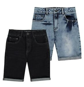Boys-Firetrap-Casual-Denim-Comfortable-Stitched-Shorts-Sizes-from-7-to-13
