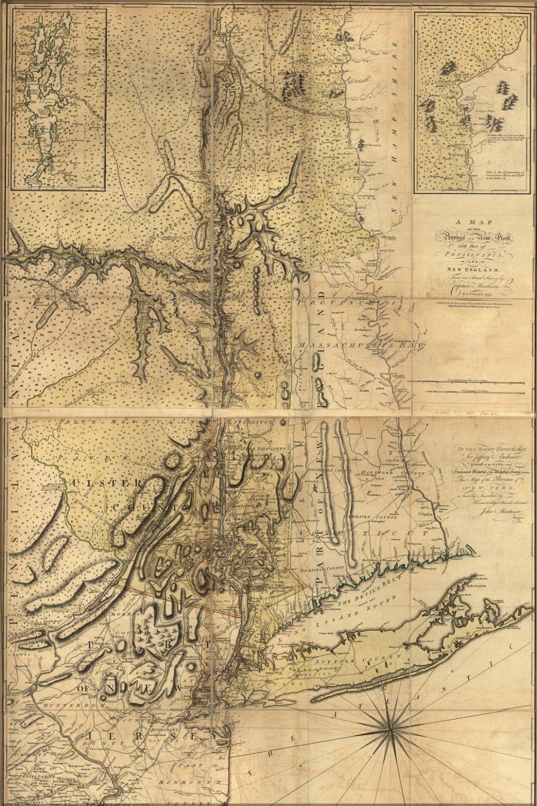 Poster, Molte Misure; Mappa Del New York City Long Island Area 1775 P1