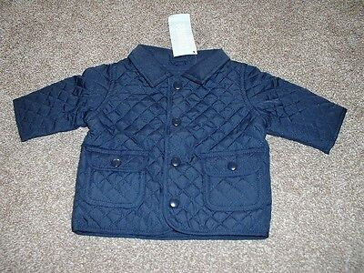 Gymboree Baby Boy 0-3 mos months Size Jacket Navy Blue Quilted NWT NEW Fall SALE