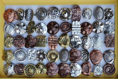 Wholesale 5pcs//lot Mixed Style anneaux bijoux alliage métallique Bague Réglable Gratuit