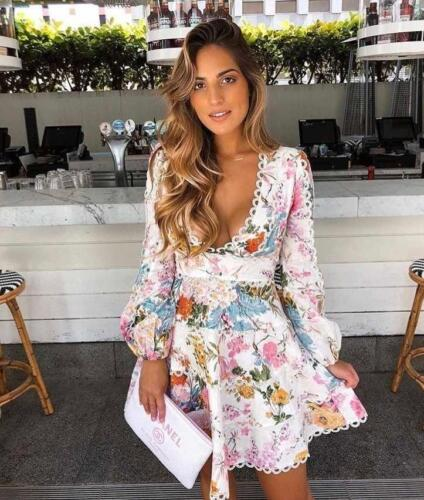 New with Tag Authentic Zimmermann Heathers Flounce Floral Dress S M L