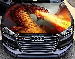 Vinyl Car Hood Full Color Graphics Decal Fantasy Dragon Fire Flame - Graphics for cars and trucksfull color flames graphics car truck decals truck decals