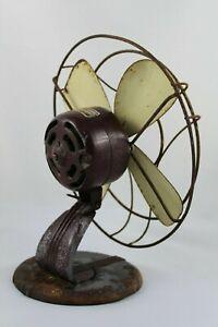 Ancien Ventilateur De Table Ateliers Numax Avec Pied De Fonte, Ans 30