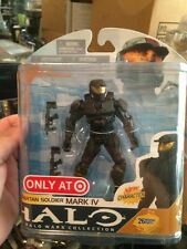 HALO WARS SPARTAN SOLDIER  MARK IV BLACK TARGET EXCLUSIVE  SER#8   ACT-FIG RARE