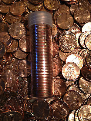 50x BU Memorial Lincoln Head Cent UNC Penny 1959-2008 Copper Roll One P D S Mint