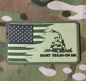 AMERICAN-USA-US-FLAG-DON-039-T-TREAD-ON-ME-SNAKE-3D-PVC-MULTICAM-VELCRO-BRAND-PATCH