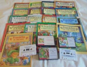 HUGE-set-of-17-Franklin-picture-books-5-matching-tapes