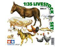Tamiya 35128 Livestock Set 1/35 Scale Plastic Model Kit