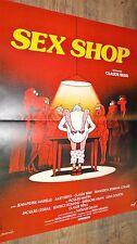 SEX SHOP   ! affiche cinema  vintage 1972