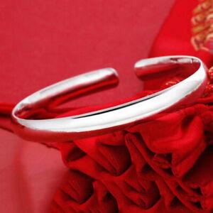 Armreif-925er-Silber-glatter-Armband