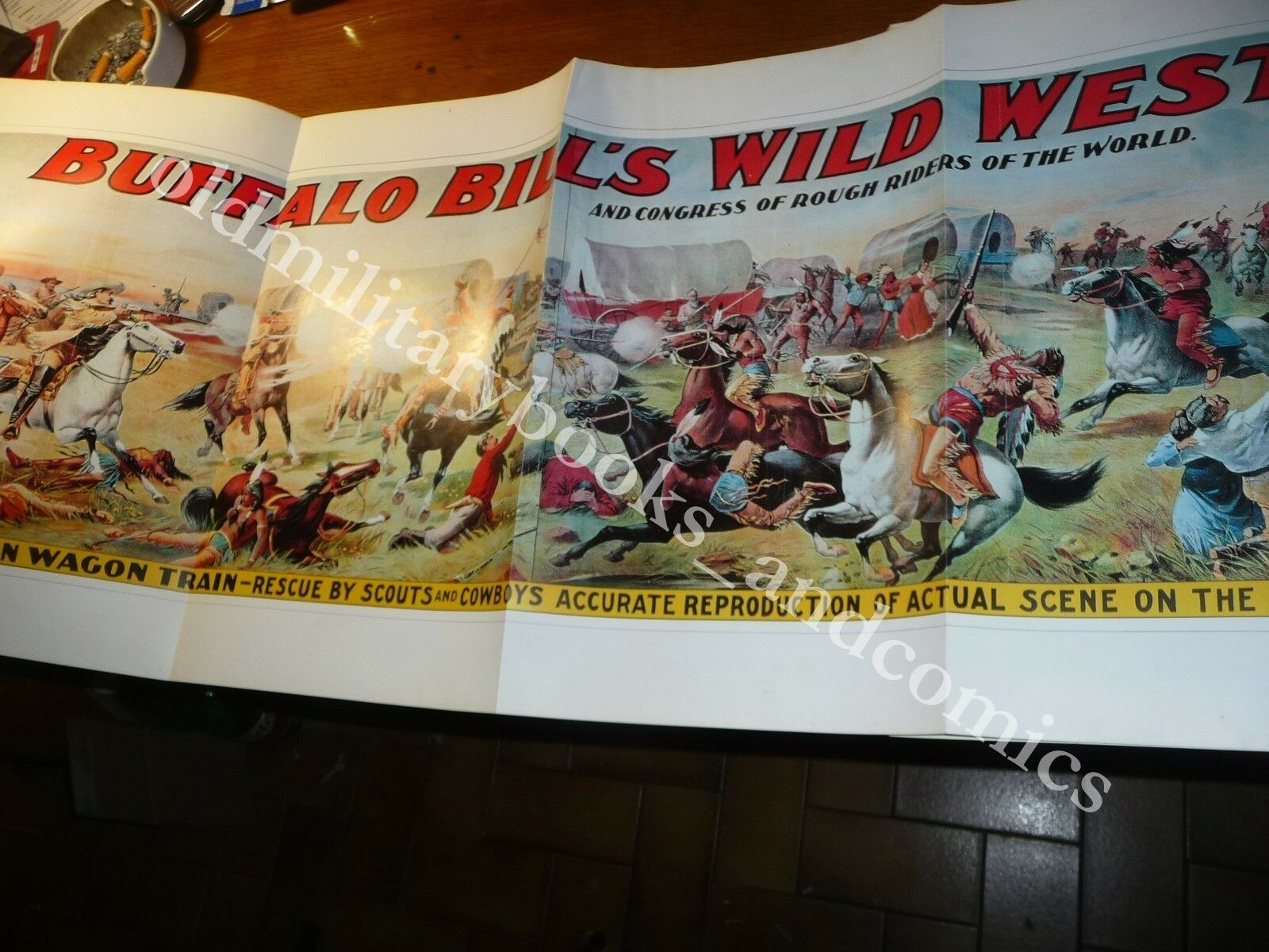 CENT AFFICHES DE BUFFALO BILL'S WILD WEST 100 MANIFESTI DEL GRANDE BUFFALO BILL