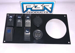"PBR Products Honda Pioneer 1000 Aluminum Dash Panel 3/"" radio w //4 switches"