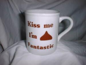 HERSHEY-Coffee-Mug-KISS-ME-I-039-M-Hershey-Kiss-FANTASTIC-Ceramic-White-EUC
