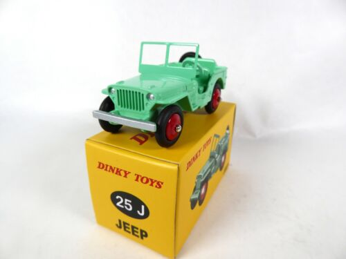 25J Jeep Willys verte fluo DINKY TOYS DeAgostini VOITURE MINIATURE MODEL CAR