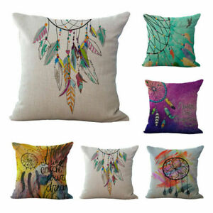 Monogram-Hipster-Watercolor-Dreamcatcher-Feather-Cushion-Cover-Throw-Pillow-Case