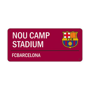 FC BARCELONA STEEL STREET SIGN OFFICIALLY LICENSED FREE SHIPPING USA