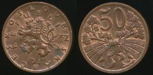 Czechoslovakia-Republic-1947-50-Haleru-Uncirculated