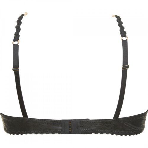 Sapph Lava Padded Bra Büstenhalter schwarz black abnehmbare Schmuckkette BH
