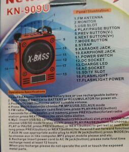 RADIO STEREO PORTATILE LETTORE MP3 FM SD CARD USB CASSA