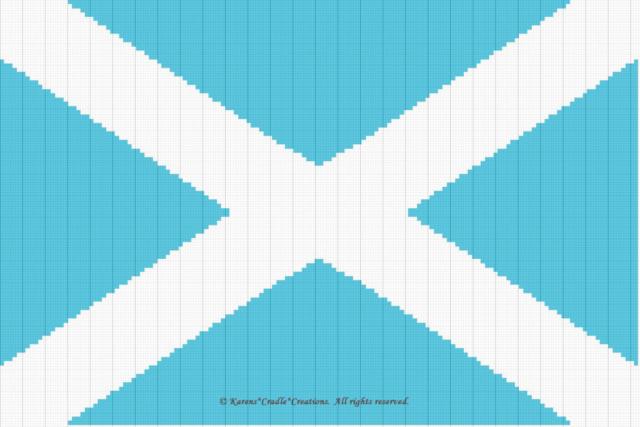 Crochet Patterns Flag Scotland Graph Afghan Pattern Ebay