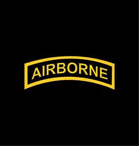 Airborne tab vinyl decal car window bumper sticker 4 army for 101st airborne window decals