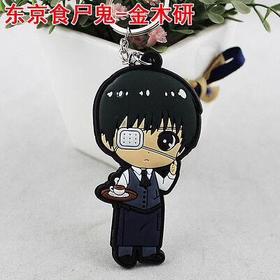 Cute 5cm Tokyo Ghoul Kaneki Ken Haise Sasaki Keychain Keyring Pendant Doubleside