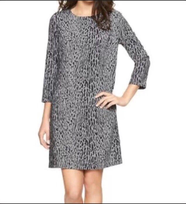 NWT Gap Leopard three-quarter sleeve dress