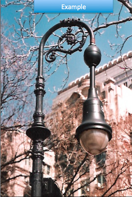 Vintage Single Street Light Pole Lamp Municipal Street Light Antique LED