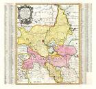 Historische Karte: HERZOGTUM MAGDEBURG mit Halle und Fürstentum Anhalt, um 1750 von Peter (der Jüngere) Schenk (2013, Mappe)