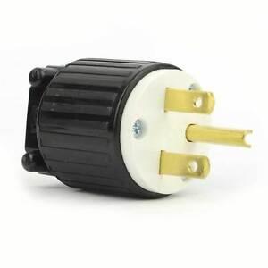 Lot of 3 Hubbell HBL2621 30A 250V 2-Pole 3-Wire Insulgrip Twist-Lock Plug