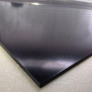 1.5mm Noir Lisse Abs Feuille 4 Tailles Au Choix Acrylonitrile Butadiène Styrène Handicap Structurel